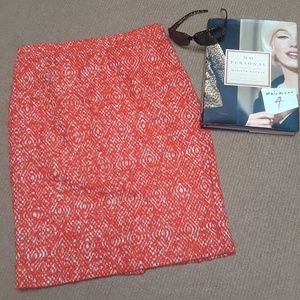 J.Crew No. 2  Tweed Pencil Skirt in Persimmon🍁